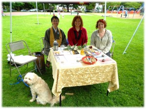 Domyo, Ellen, Amy and Curly at Buddhist Festival