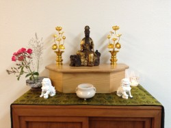 Altar with Manjushri - Mid