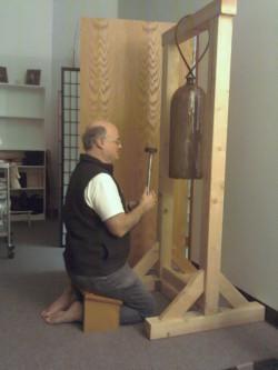 Jim ringing densho bell