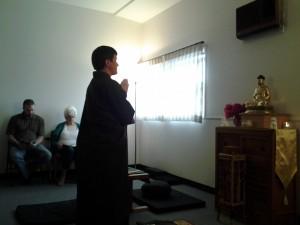 Domyo at Altar