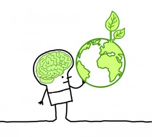 http://www.dreamstime.com/stock-image-man-green-brain-green-earth-image18835891
