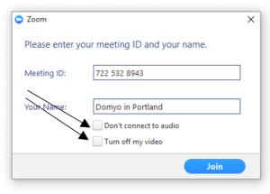 Zoom Computer App - Meeting Settings