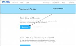 Downloading the Zoom app on a computer